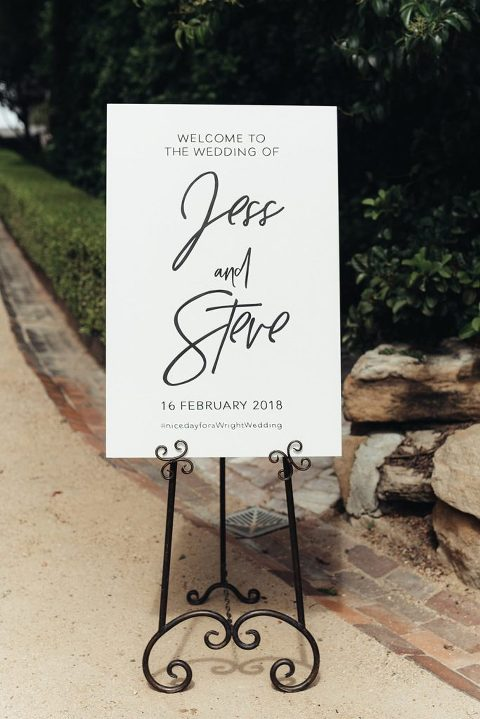 Custom Handpainted Signage featured in Vogue Bride Australia